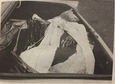 Body of Leo Ladenhauf, found at Laguardia Airport. he was a loanshark in the 70's who got involved with some Genovese fringe players on a restaurant loan. After holding out money meant to kick up to his superiors he was killed by Michael Crimi, nephew of Funzi Tieri. Courtesy of Dov Gross