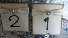 wedding table numbers (please read before you bid)