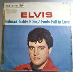 """Elvis - Indescribably Blue / Fools Fall In Love 7"""" VG+ /SPAIN-3-10214 - PROMO"""