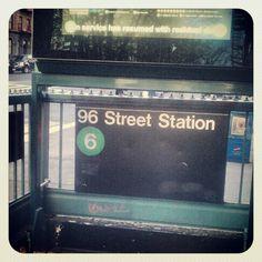 """""""96 st Station #onthe6 #lexingtonave #nyc #subway"""""""