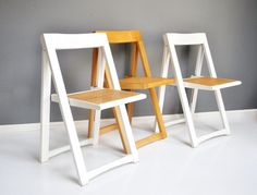 Fantastic folding a-frame chair, just in time for holiday get-togethers. These chairs fold up pretty flat, making it convenient for using every