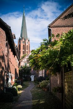""" Hoyers Gang, Altstadt Buxtehude "", Lower Saxony, Germany"