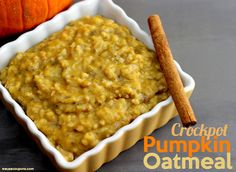 Crockpot Pumpkin Oatmeal Recipe - Wanna Bite