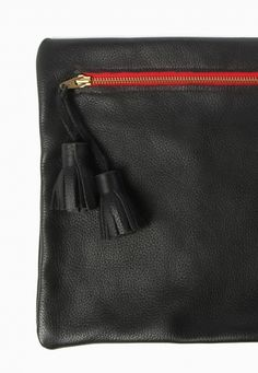 Leather Clutch with Tassels on Craft & Culture