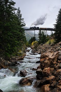 Georgetown Loop in Colorado - hope to take the grand children there someday, when they are running steam.