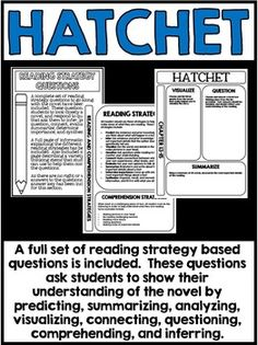 free teaching resources for hatchet by gary paulsen great books