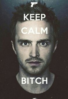 Keep calm. I have no words for how much I will miss Aaron Paul...and Breaking bad!!!!!!