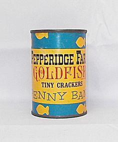 Vintage Pepperidge Farm Goldfish Penny Bank