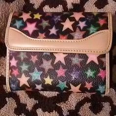 Cute wallet Cute colorful star wallet, good size many compartments. Bags Wallets