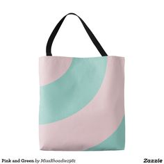 Pink and Green Tote Bag  Go shopping, pick something up from the Farmer's Market, etc with this pink and green tote bag. Displaying a pink and green swirl, purchase yours today! #zazzle #totes