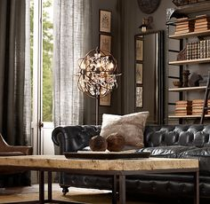 I am dying at the site of this floor lamp right now. DYING. $1400 bucks from restoration hardware...dead.