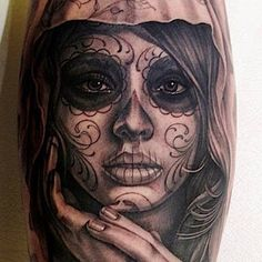 Nice day of the dead tattoo.