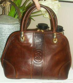Vintage Marino Orlandi Thick Leather Handbag - Large
