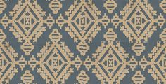 Navajo Indigo (BW45060/1) - G P & J Baker Wallpapers - An all over wallpaper design featuring an Aztec style motif. Shown here in indigo and metallic gold. Other colourways are available. Please request a sample for a true colour match. Wide width product. Paste-the-wall product.