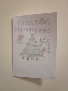 Student made Christmas card