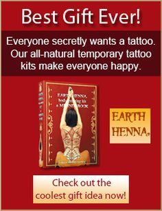 henna and jagua temporary body tattoos