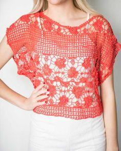 Eleanor- Floral Crochet Shirt