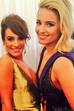 Dianna Agron and Lea Michele, two Glee favourites, Achele.