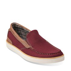 78bedfc3f89 Boid Knoll in Red Canvas - Mens Shoes from Clarks Mens Canvas Shoes