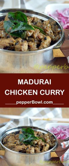 Madurai Chicken Curry Recipe, Yes, you are correct! This recipe is one of the very popular chicken recipes from Madurai, a southern city from Tamil Nadu via /pepperbowl/ Veg Recipes, Spicy Recipes, Curry Recipes, Indian Food Recipes, Asian Recipes, Appetizer Recipes, Chicken Recipes, Ethnic Recipes, Indian Foods