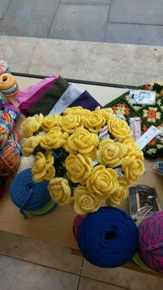 Rosas de crochet sant jordi