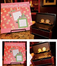 Individual Worth, Young Women Activities, Personal Progress, Treasure Boxes, Table Centerpieces, Lds, Saints, Decorative Boxes, Gift Wrapping