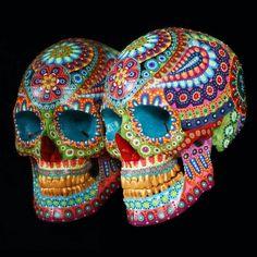 Sugar Skull Decor, Sugar Skull Art, Cow Skull, Sugar Skulls, Mexican Skulls, Mexican Art, Crane, Real Skull, Day Of The Dead Art