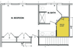 master bedroom bathroom and walk in closet layout | master bedroom suite Walk In Closet Design Build Project