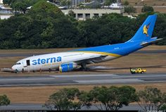Sterna Linhas Aéreas Airbus A300B4-203(F) PR-STN lays tail-up following a landing incident at Recife-Guararapes, 21st October 2016. (Photo: Normando Carvalho Jr.)