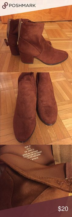H&M Suede Boots Sweet Potato/Brown color, worn less than 5 times - like new Negotiable 😊 H&M Shoes Ankle Boots & Booties