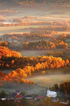 thepreppyyogini:  Misty Autumn morning.