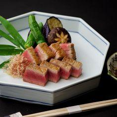 Maguro steak 本鮪ステーキ  #kitaohji #kaiseki #foodporn #instafood #maguro #tuna #yamm #yammy #thonglor #bangkok by takashi.kitahara