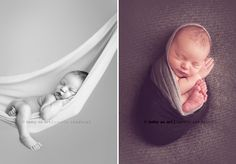 Babies!  Her photo site has samples of cute positions for families with newborns and sleeping babies.  Precious!