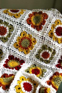 Fall Crochet Squares Blanket