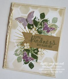 Stunning card made with Kinda Eclectic stamp set…Stampin' Up!® #stampyourartout #stampinup - Stamp Your Art Out! www.stampyourartout.com