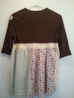 Back of brown bodice babydoll dress/tunic size xsmall - small