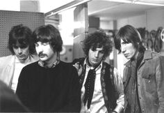 Pink Floyd 1967 Richard Wright Nick Mason Syd Barrett e Roger Waters nos estúdios da BBC