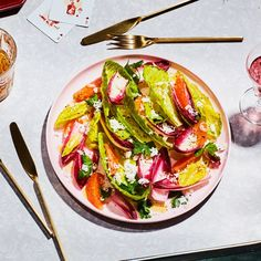 Endive, Romaine, and Orange Salad for Two