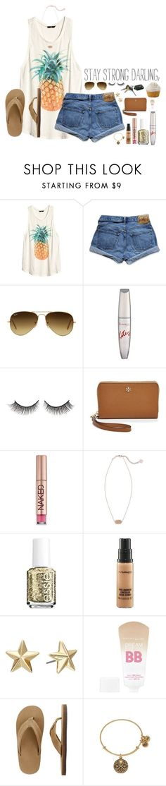 spring break day 1 #sb2k16 (leaving for a trip tmrw!) by lydia-hh ❤ liked on Polyvore featuring H&M, Abercrombie & Fitch, Ray-Ban, Rimmel, Rimini, Tory Burch, Urban Decay, Kendra Scott, Essie and MAC Cosmetics