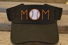 5fb7f1550b7 Baseball mom hat   visor customized with rhinestone by CapsbyKari Choose  rhinestone colors to match your child s team.