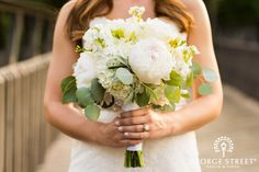 Classic white peony bouquet — you can't go wrong!