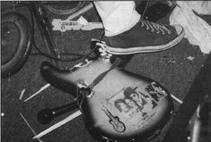 First show at which Kurt Cobain smashed his guitar. - Evergreen State College, Olympia, October 30, 1988