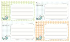 Delightful Distractions: Printable Bird Recipe Cards... Giftable!- click the download link under the image- google docs uploads- download- save as!