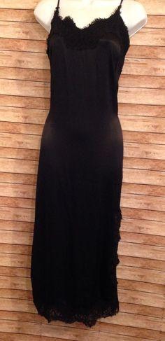 9f283991ca bardot long black lace lingerie dress size XS