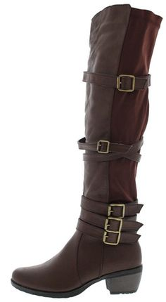 820eea21eec9 AUDI3 BROWN BUCKLE RIDING BOOT BOOTS FROM  12.88 -  27.88