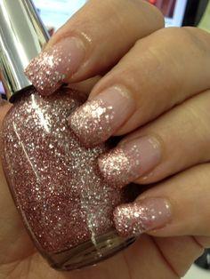 Ombre Glitter Nails tutorial