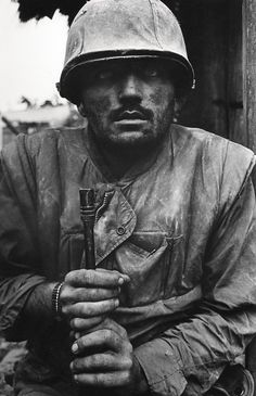 Don McCullin Shell Shocked US Marine, The Battle of Hue 1968 Until 15th March