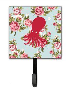 Octopus Shabby Elegance Roses Wall Hook