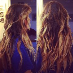 Obsessed with brown blond ombre hair! I think I'n going to get it soon. I also want this length