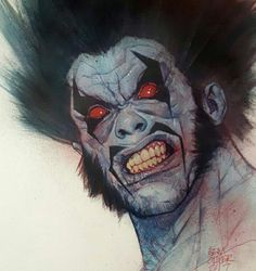 Lobo by Ben Oliver Comic Book Heroes, Comic Books Art, Comic Art, Comic Style Art, Comic Styles, Dc Comics Art, Anime Comics, Spawn Comics, Ben Oliver
